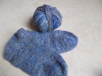S23 Filzgarn blau-meliert