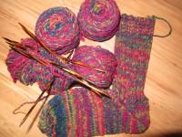 S10 Sockenwolle rotbunt