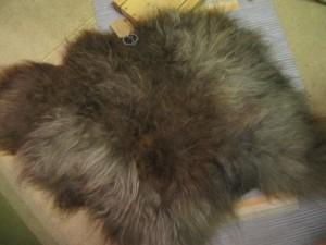 Großes Skudden-Fell aus Schurwolle mit gefilzter Merino-Unterlage - 85,00 €